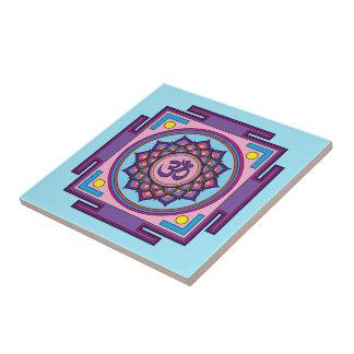 Mandala de l'OM Shanti OM Petit Carreau Carré