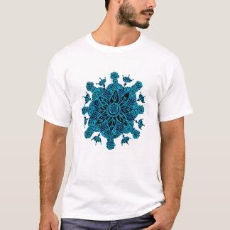 Mandala de Lotus bleu T-shirt