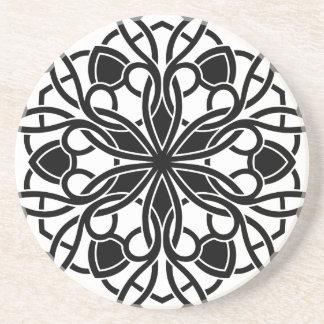 Mandala de luxe de concepteurs : blackwhite dessous de verre