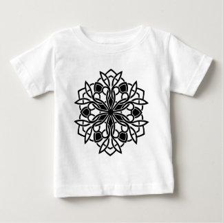 Mandala de luxe de concepteurs : blackwhite t-shirt pour bébé