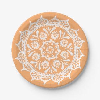 Mandala de melon assiettes en papier