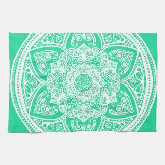 Mandala de menthe linge de cuisine
