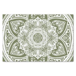 Mandala de mousse papier mousseline