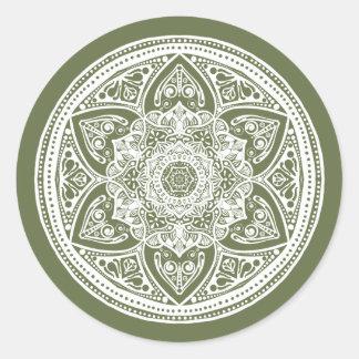 Mandala de mousse sticker rond