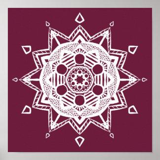 Mandala de mûre poster