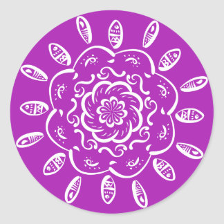 Mandala de Nudibranch Sticker Rond