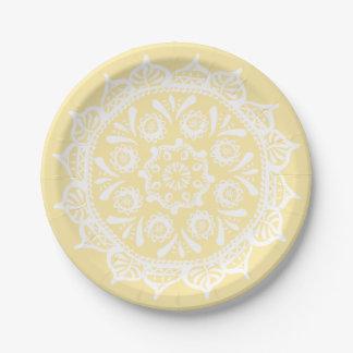 Mandala de parchemin assiettes en papier