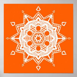 Mandala de pavot poster
