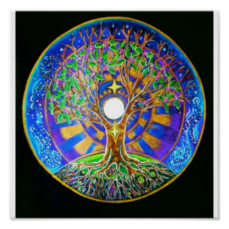 Mandala de pleine lune affiches