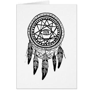 Mandala de recherche de vision de Dreamcatcher Carte De Vœux