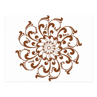 Mandala de remous de henné carte postale