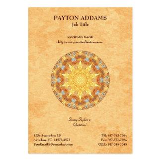 Mandala de renouvellement - carte de visite vertic