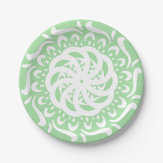Mandala de Seafoam Assiettes En Papier