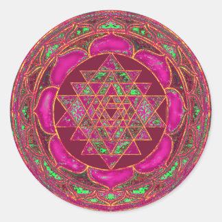 Mandala de Sri Lakshmi Yantra Sticker Rond