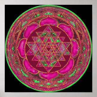 Mandala de Sri Lakshmi Yantra Posters