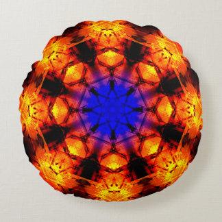 Mandala de supernova d'étoile coussins ronds