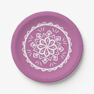 Mandala de trèfle assiettes en papier