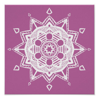 Mandala de trèfle poster