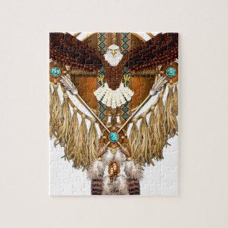 Mandala d'Eagle chauve - révisé Puzzle