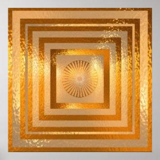 Mandala d'étincelle d'OR Poster