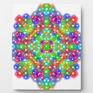 Mandala d'expression de joie plaque photo