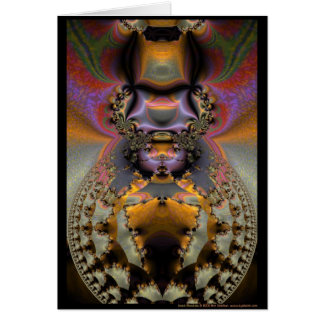 Mandala d'insecte carte de vœux
