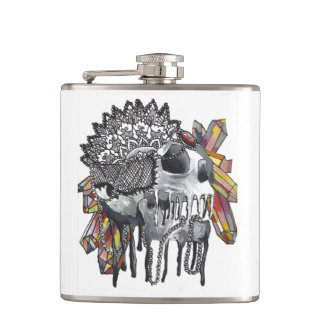 Mandala en cristal de crâne flasques