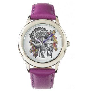 Mandala en cristal de crâne montres bracelet