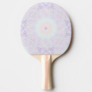 Mandala en pastel d'amour doux (grand) raquette tennis de table