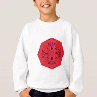 Mandala Ethno ROUGE FOLKLORIQUE créatif. Atelier Sweatshirt