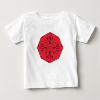 Mandala Ethno ROUGE FOLKLORIQUE créatif. Atelier T-shirt Pour Bébé