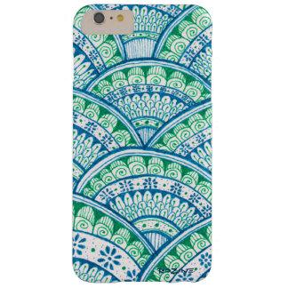 Mandala exotique ethnique blanc bleu de Tuquoise Coque Barely There iPhone 6 Plus
