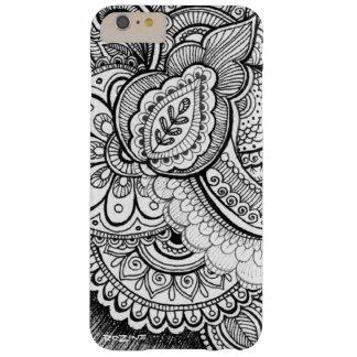 Mandala exotique ethnique de damassé noire et coque barely there iPhone 6 plus