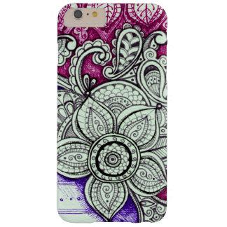 Mandala exotique ethnique floral blanc pourpre de coque barely there iPhone 6 plus