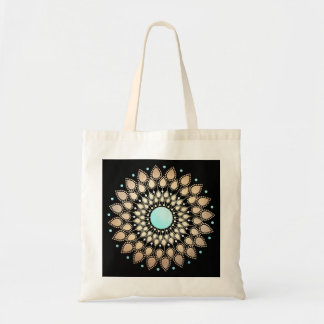 Mandala fleuri de Lotus d'or élégant Sac