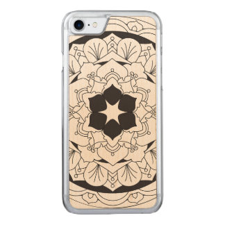 Mandala floral décrit 060517_4 coque carved iPhone 8/7