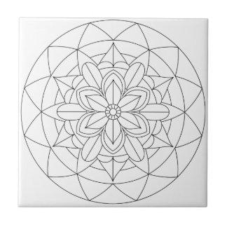 Mandala floral géométrique décrit 060517_2 carreau
