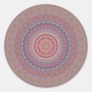 Mandala géométrique hippie sticker rond