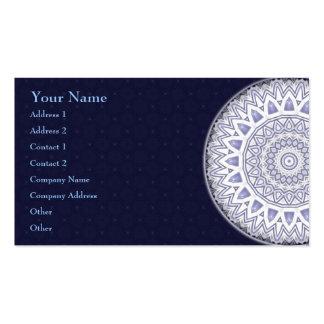 Mandala léger de flocon • Carte de visite