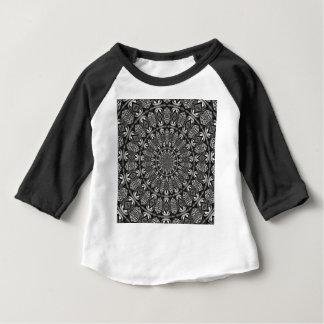 Mandala monochrome t-shirt pour bébé