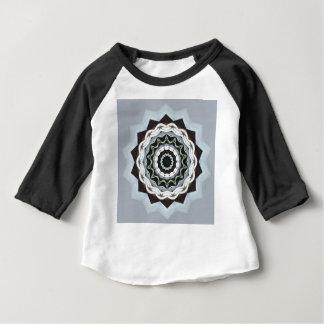 Mandala noir et bleu t-shirt pour bébé