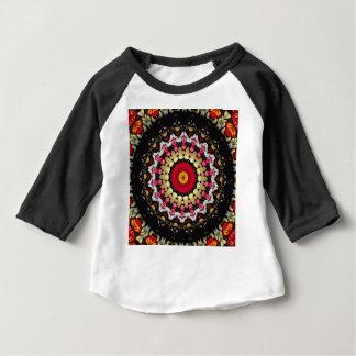 Mandala noir et rouge magique t-shirt pour bébé