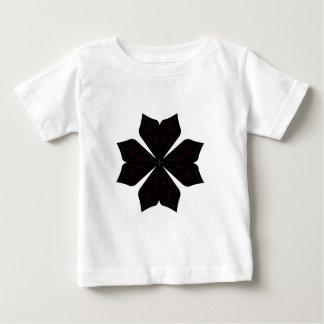 Mandala noir sur le blanc t-shirt pour bébé