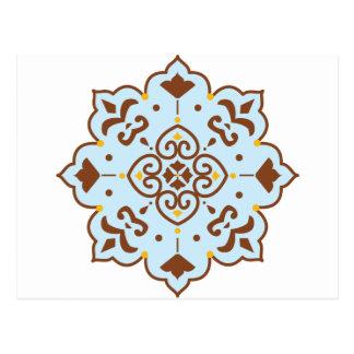 Mandala persan de couverture de henné carte postale