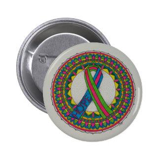Mandala pour le cancer du sein métastatique badge