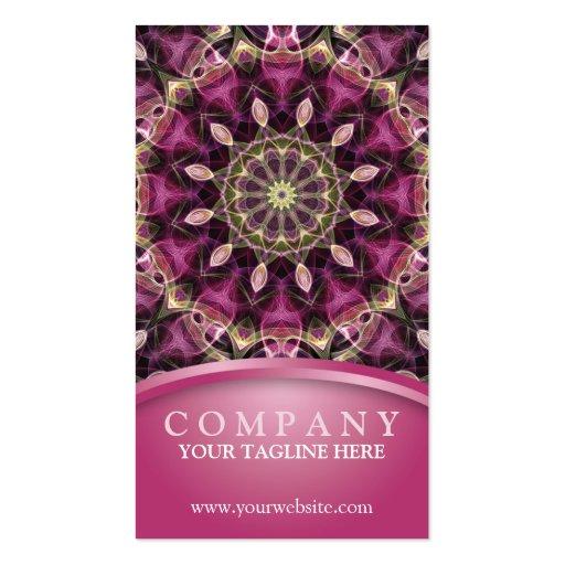 Mandala pourpre de fleur cartes de visite professionnelles
