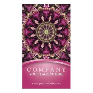 Mandala pourpre de fleur carte de visite standard