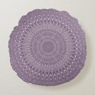 Mandala pourpre en pastel coussins ronds