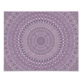 Mandala pourpre en pastel impression photo