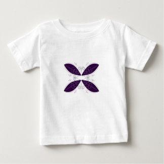 Mandala pourpre sur le blanc t-shirt pour bébé
